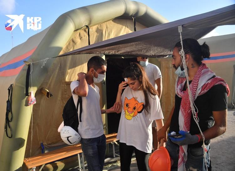 Российские врачи спасают пострадавших на протестах в Бейруте