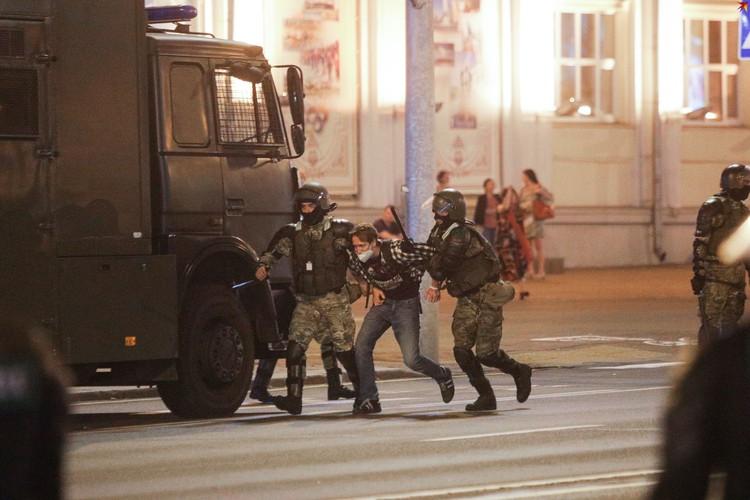 Протесты 10 августа в Минске