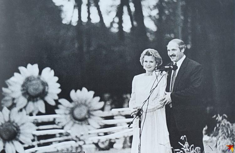 Одна из описанных в книге встреч с Александром Лукашенко состоялась на первых «Дажынках» в Столине. Фото: Архив Зинаиды Бондаренко