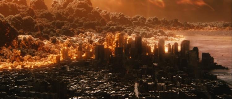 """Кадр из фильма """"Знамение"""", в котором Солнце уничтожает жизнь на Земле. Ужастик может стать пророческим."""
