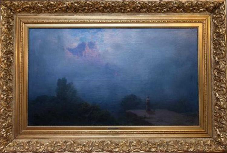 «Ай-Петри при восходе солнца» Айвазовского 1893 года.