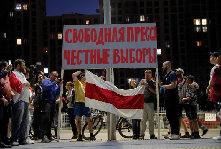 Честные выборы и смена власти -основные требования протестующих в Минске