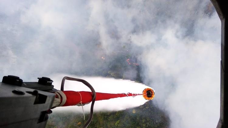Пожары тушат с воздуха Фото: Дмитрий КОМАРОВ