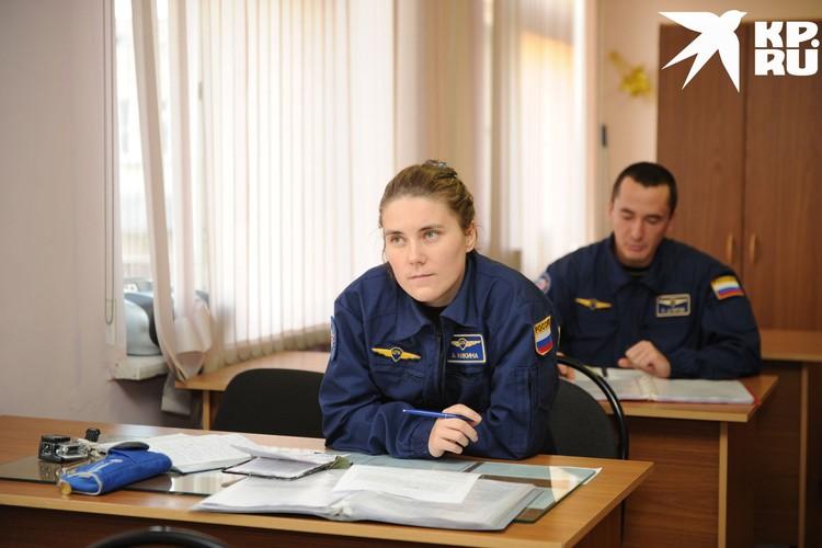 Лекция у космонавтов. Фото: Роскосмос.