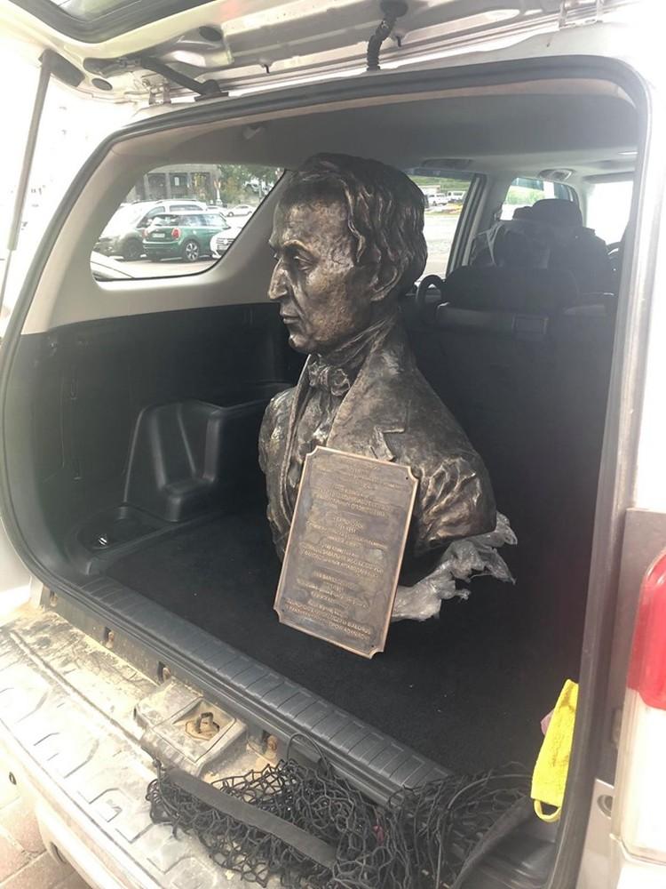 Недавно памятник Борщевскому перевезли в Чуднов. Фото: Архив Александра Сапеги
