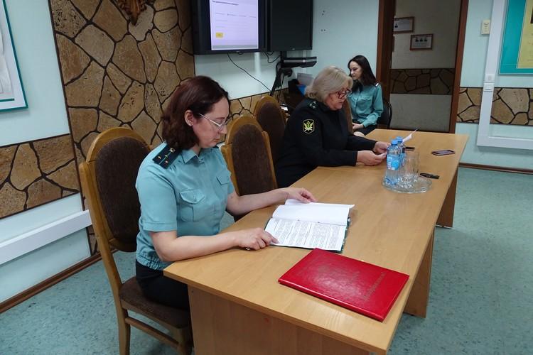 Брифинг в Управлении Федеральной службы судебных приставов Липецкой области