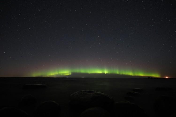 Увидеть красоту природы можно было над Финским заливом и Ладожским озером