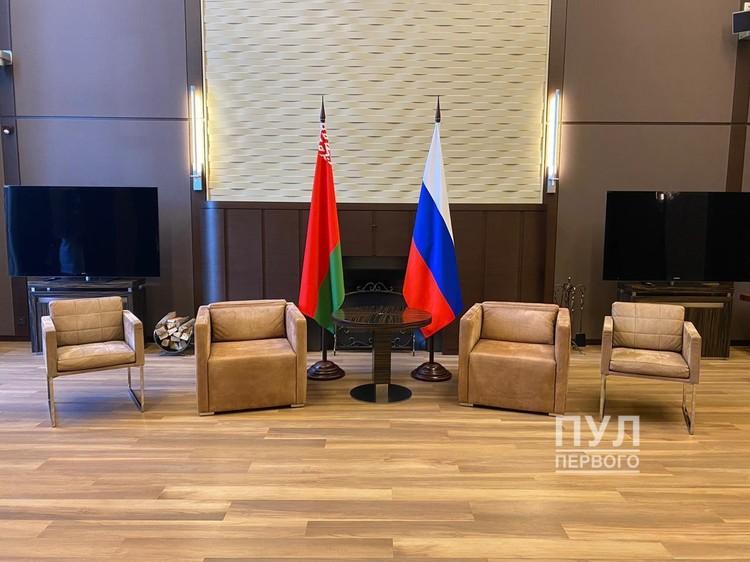 """Место переговоров. Фото: Telegram-канал """"Пул Первого""""."""