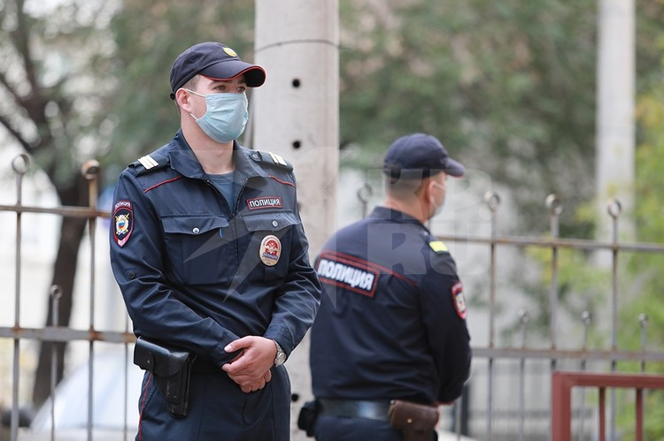 На месте ЧП дежурят полицейские