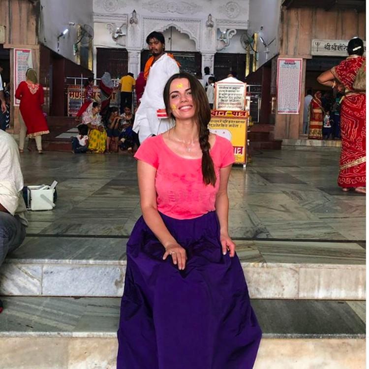 Люция Геращенко несколько раз посещала святые места в Индии, например, была во Вриндаване. Фото: Инстаграм.