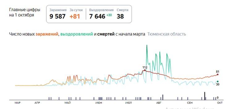 Скриншот с yandex.ru/covid19/stat