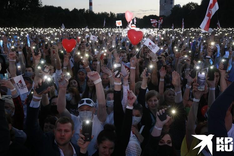 Митинг в поддержку Светланы Тихановской