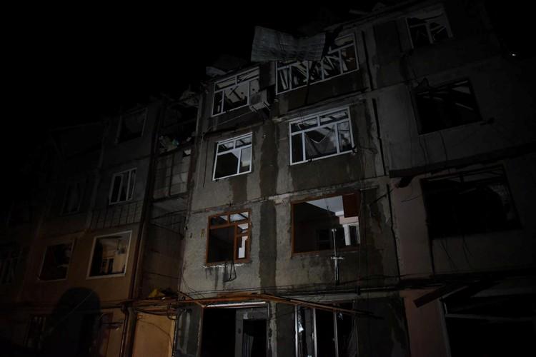 Разрушения в Степанакерте