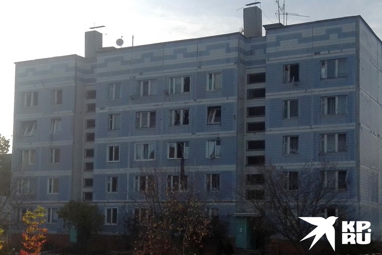 Один из домов в военном городке. Всех жителей эвакуировали.