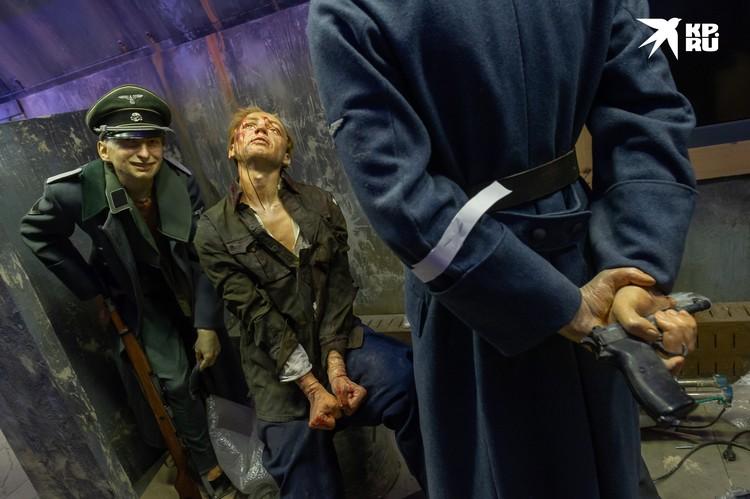Сцена пыток советского солдата