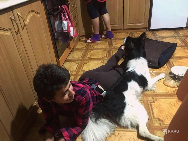 Сначала Ирина приехала в гости к Насте, в Екатеринбург, чтобы поближе познакомиться с собакой. Фото: представлено героями публикации