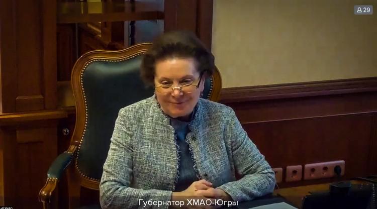 Губернатор Югры Наталья Комарова. Фото: Правительство Югры