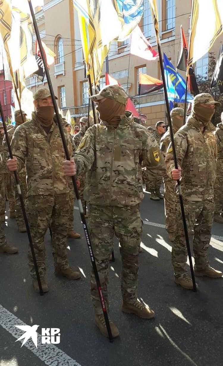 Нац-марш стал уже настолько привычным шоу в Киеве, что у многих не вызвал ни капли интереса