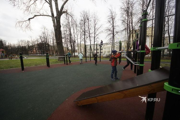 Площадка для занятий воркаутом.