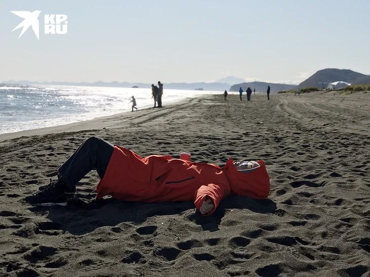 А это Халактырский пляж. Тоже чисто