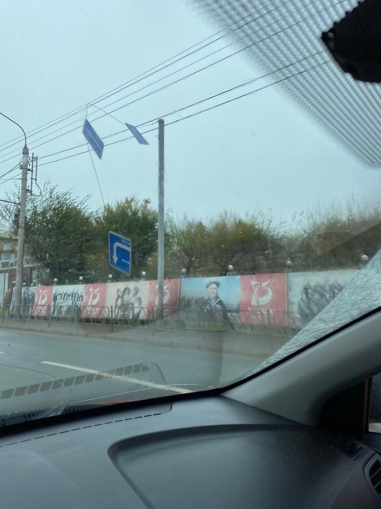 Повреждены дорожные знаки. Фото: пресс-служба администрации города