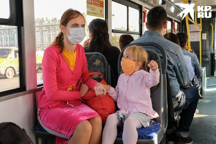 В общественный транспорт перестанут пускать без масок.