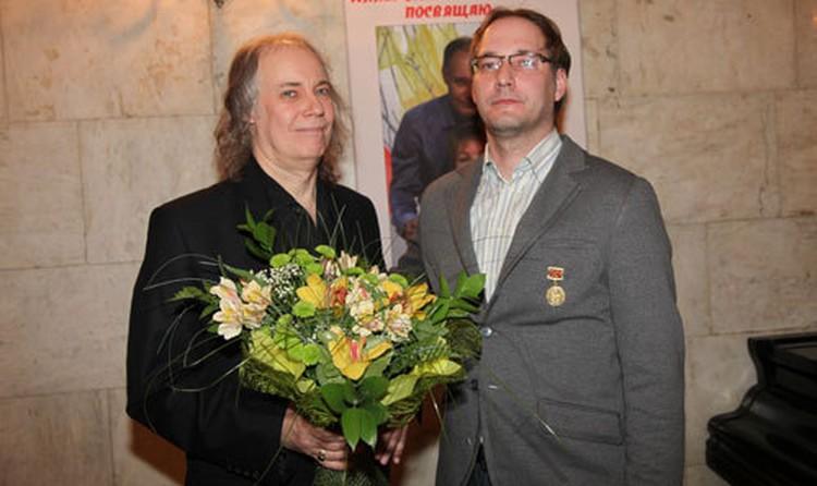 Владимир Конкин с сыном