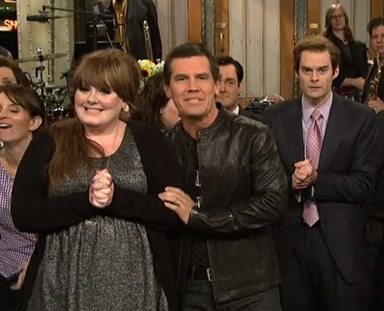 Последний раз Адель снималась в шоу Saturday Night Live 12 лет назад, и тогда она выглядела так. Фото: кадр видео.