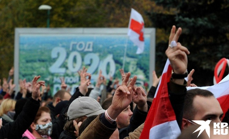 Колонна протестующих. Фото: Виктор ПЕТРОВ