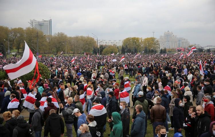 25 октября в Минске прошел народный марш