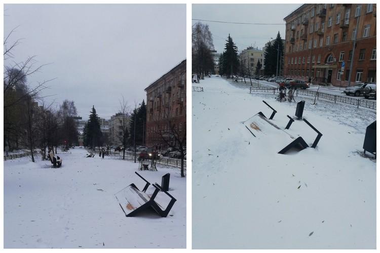 """Сквер на Орджоникидзе. Фото: сообщество """"Изнанка Челябинска"""", ВК."""