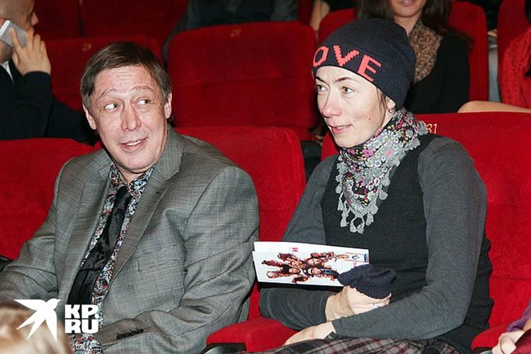 Михаил Ефремов и Софья Кругликова в 2013 г.