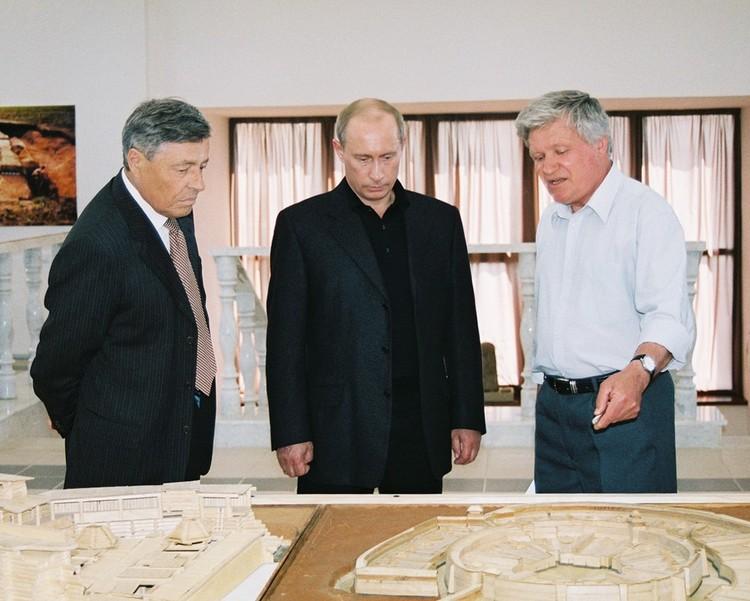 Владимир Путин приезжал в «Аркаим» в 2005 году. Фото: заповедник «Аркаим»