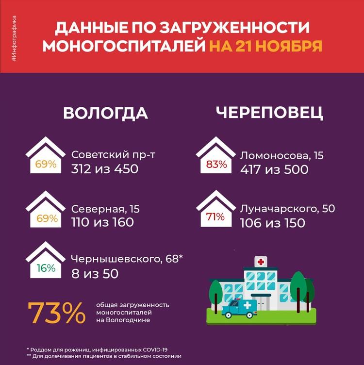Статистика по моногоспиталям региона