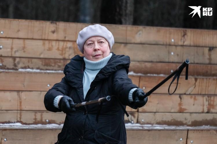 Елена Вдовина сегодня впервые на тренировке