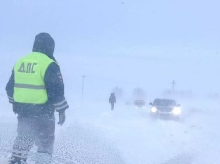 В условиях плохой видимости сотрудники Госавтоинспекции просят водителей быть особенно осторожными. Фото: ГУОБДД МВД России