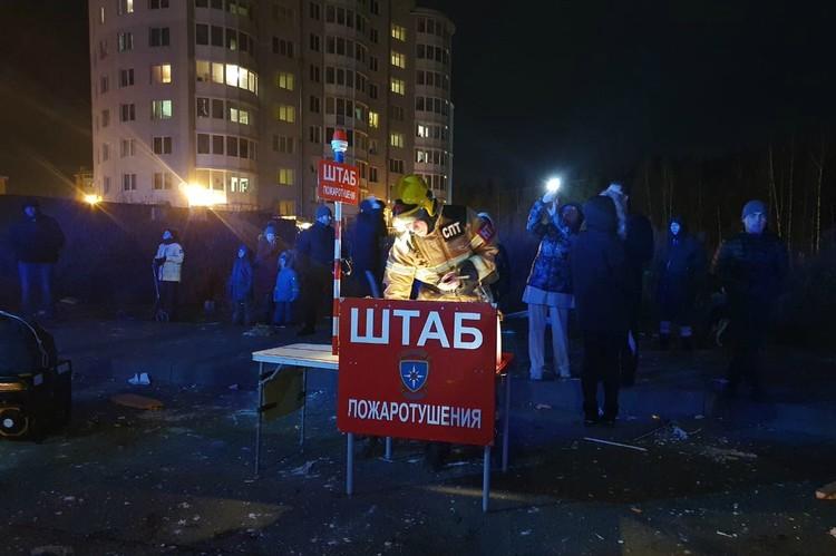 Часть жителей смогла вернуться домой только глубокой ночью. Фото: Администрация Всеволожского района Ленинградской области