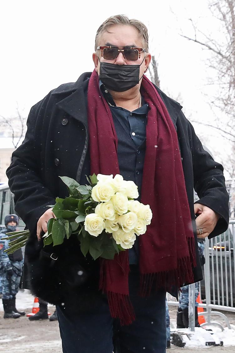 В шоке от похорон и Станислав Садальский. Фото: Вячеслав Прокофьев/ТАСС