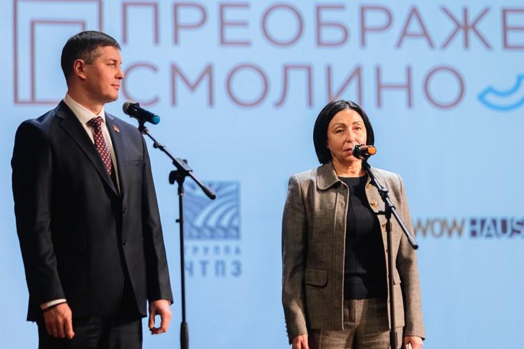 Евгений Губанов и Наталья Котова отметили важность реализации концепции преображения набережной озера Смолино.