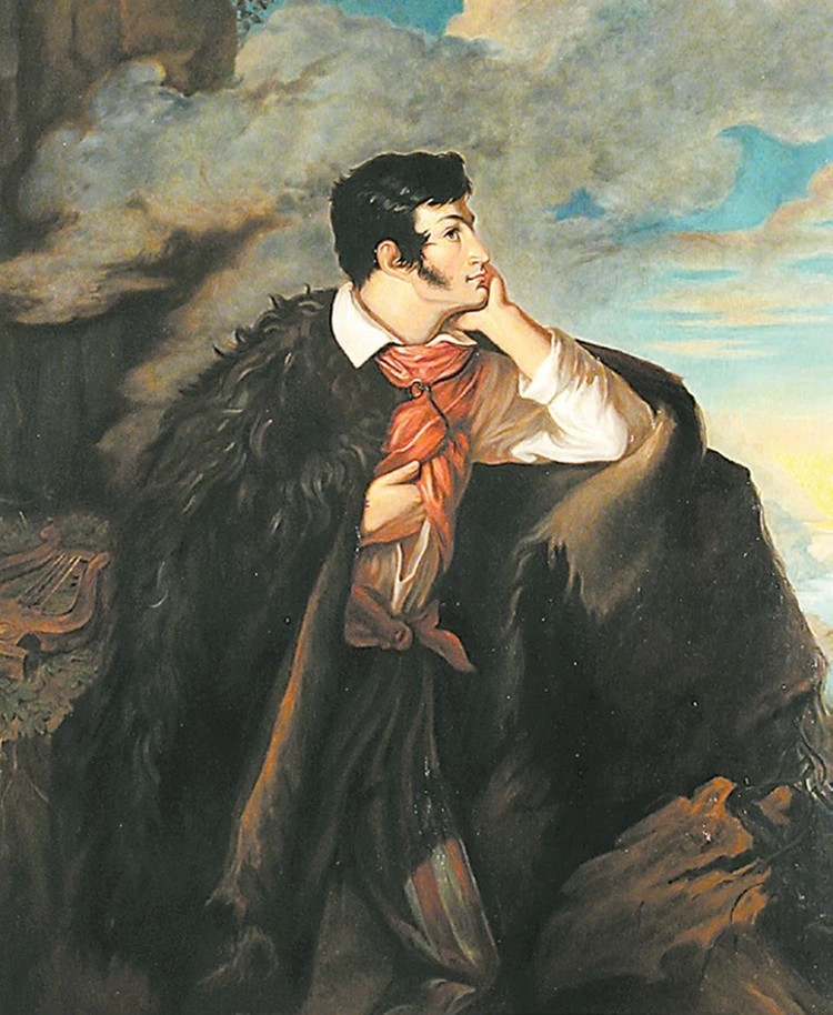 Портрет Адама Міцкевича работы Валентия Ваньковича.