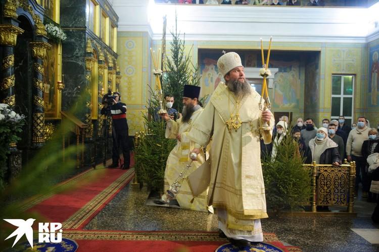 Рождественская служба в Екатеринбурге.