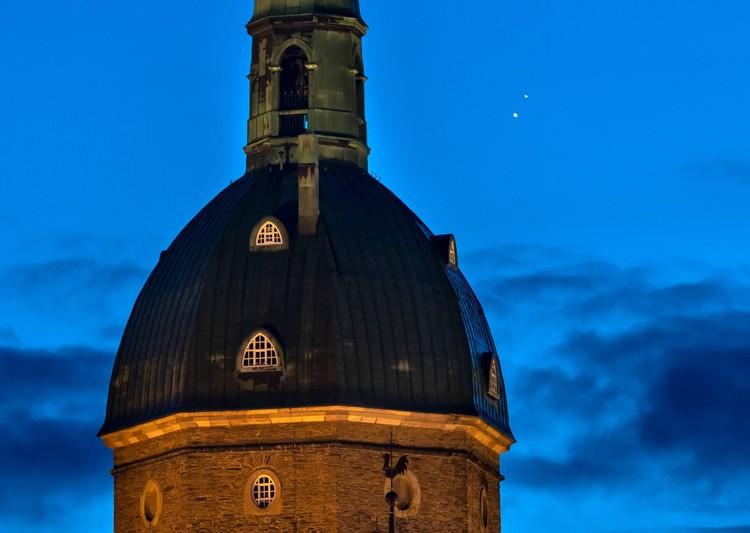 Недавнее соединение Сатурна и Юпитера явило на небе некое подобие Вифлеемской звезды