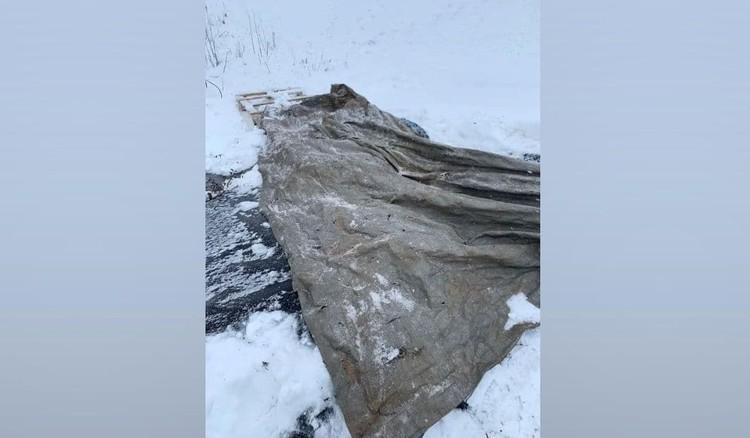 Для косуль соорудили мостики из брезента. ФОТО: Нижегородский Госохотнадзор