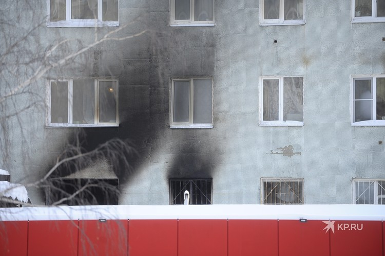 Пожар начался на втором этаже