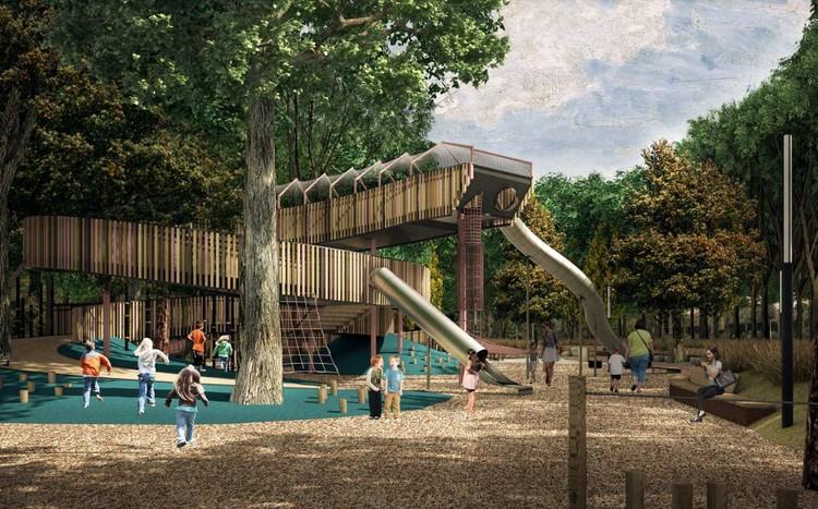 Детская игровая площадка. Фото: архитектурное бюро «OSM-project», предоставлено администрацией Екатеринбурга