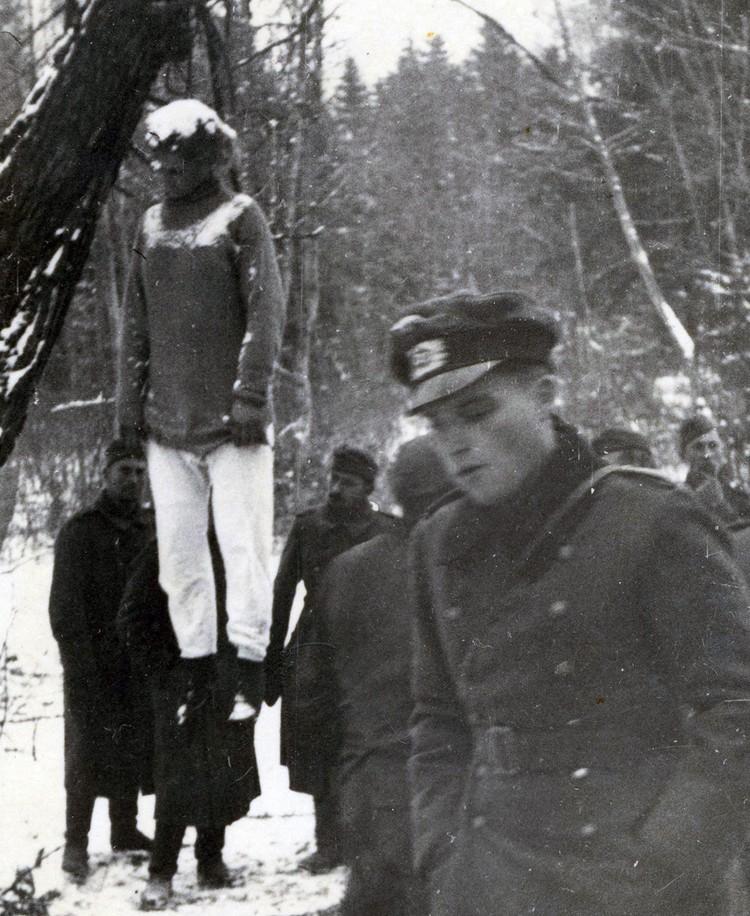 Казнь Веры Волошиной на немецкой фотографии.