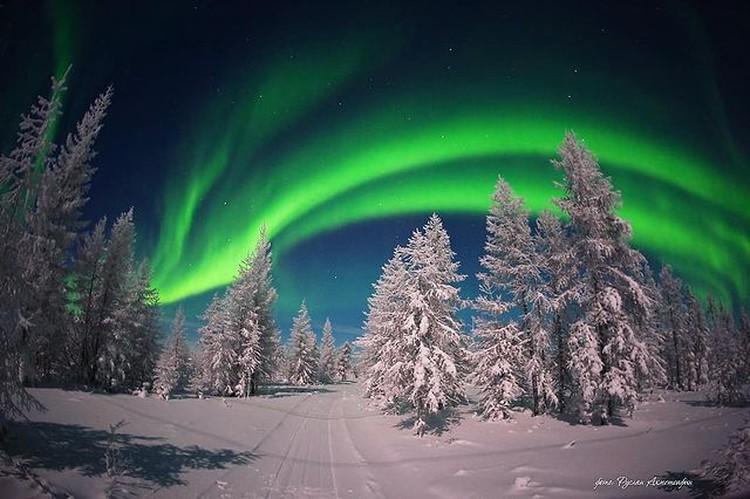 Небесное шоу над тайгой. Фото: ruslan_akhmetsafin.