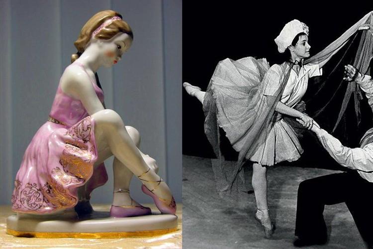 """В фарфоровой статуэтке """"Юная балерина"""" художник Пахомов запечатлел будущую актрису Татьяну Пилецкую."""