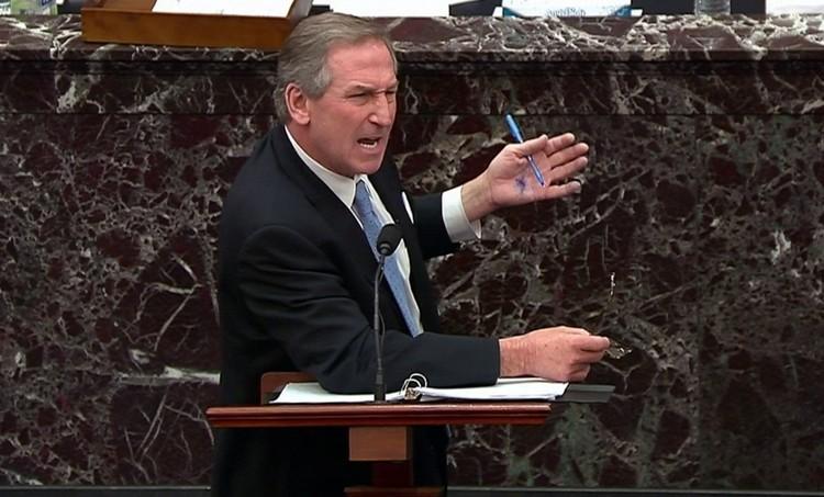 Адвокат Трампа Майкл Ван дер Вин защищает экс-президента на слушаниях в Сенате