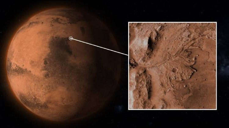 Место посадки находится в экваториальной области Марса.